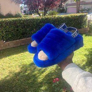 Blue  UGG Fluff Yeah Genuine Shearling Slipper
